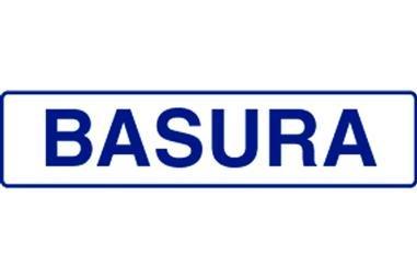 Comprar SEÑAL GLASSPACK ADHESIVA 175X45 Señal BASURA COF-I104GL17545 en Ferretería el Clavo.