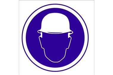 Comprar SEÑAL ADHESIVO 105X105MM. Obligatorio uso de casco. COF-O01AD105105 en Ferretería el Clavo.