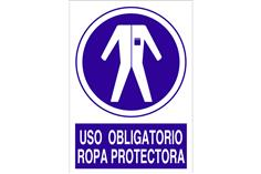 Comprar SEÑAL POLIESTIRENO 1,5MM 297X210 Uso obligatorio ropa protectora COF-O37PL297210 en Ferretería el Clavo.