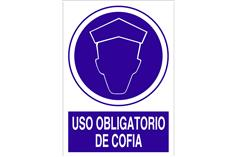 Comprar SEÑAL POLIESTIRENO 148X105MM Uso obligatorio de cofia COF-O47PL148105 en Ferretería el Clavo.