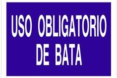 Comprar SEÑAL POLIESTIRENO 297X210 Uso obligatorio de bata COF-O60TPL297210 en Ferretería el Clavo.