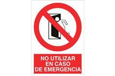 Comprar SEÑAL ADHESIVA 210X148MM No utilizar en caso de emergencia COF-P08AD210148 en Ferretería el Clavo.