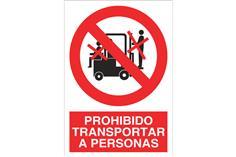 Comprar SEÑAL ADHESIVO 148X105MM. Prohibido transportar a personas COF-P15AD148105 en Ferretería el Clavo.