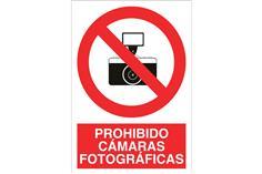 Comprar SEÑAL POLIESTIRENO 148X105MM Prohibido cámaras fotográficas COF-P20PL148105 en Ferretería el Clavo.