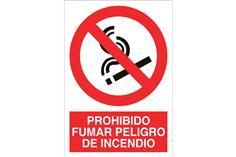 Comprar SEÑAL POLIESTIRENO 148X105MM Prohibido fumar peligro de incendio COF-P22PL148105 en Ferretería el Clavo.