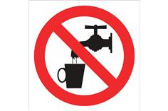 Comprar SEÑAL POLIESTIRENO 297X297MM Prohibido beber agua COF-P25PL297297 en Ferretería el Clavo.