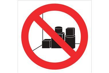 Comprar SEÑAL ADHESIVA 105X105MM Prohibido dejar bultos COF-P33AD105105 en Ferretería el Clavo.