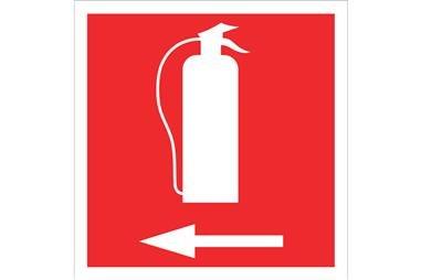 Comprar SEÑAL LUMINISCENTE 297X297 Extintor izquierda COF-SO02LU297297 en Ferretería el Clavo.
