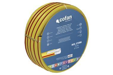 Comprar MANGUERA PVC MOD. STORM 3C TRENZADA Ø19X50 m COF-90014314 en Ferretería el Clavo.