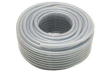 Comprar MANGUERA PVC CRISTAL C/REFUERZO 6x12 mm/100m COF-90014600 en Ferretería el Clavo.